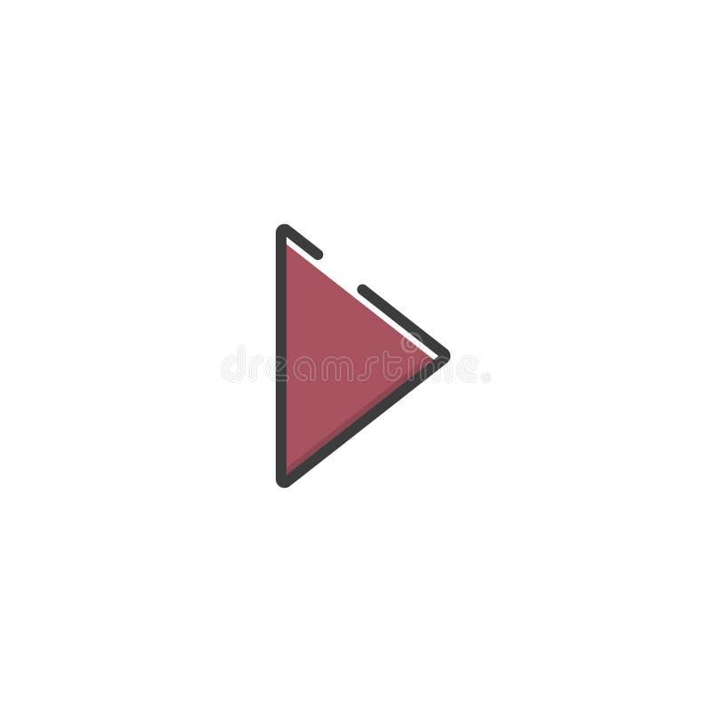 Pijlpictogram in een vlak ontwerp Vector illustratie stock illustratie