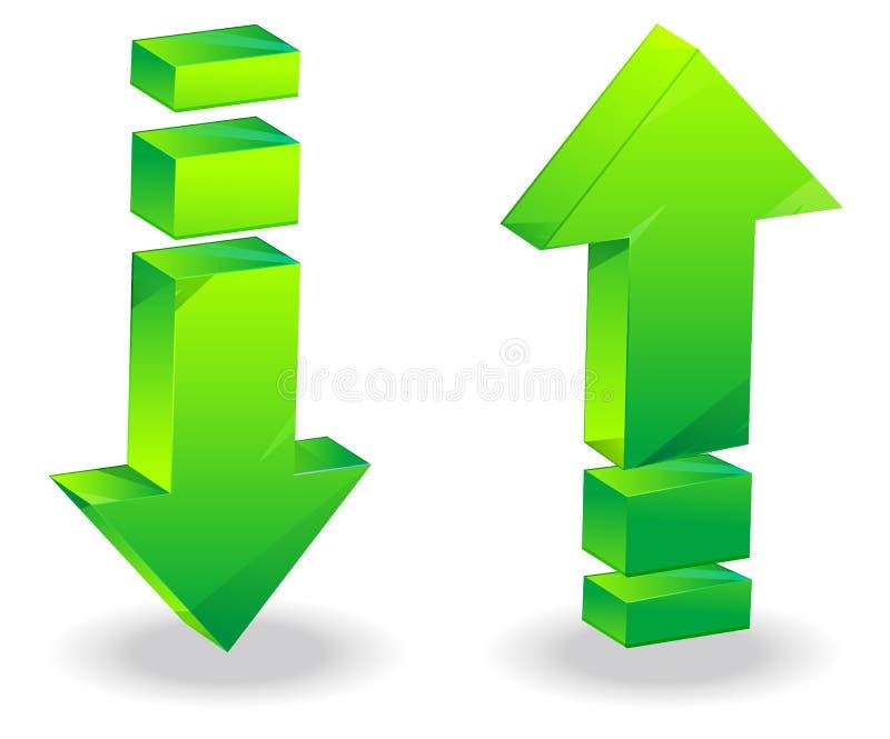 Pijlpictogram - Illustratie stock illustratie