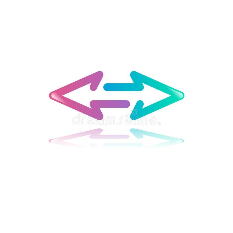 Pijlpictogram Minimaal Ontwerpconcept vector illustratie