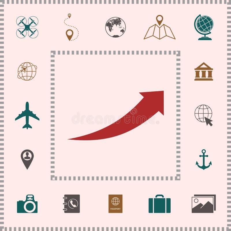 Pijlpictogram - omhoog royalty-vrije illustratie