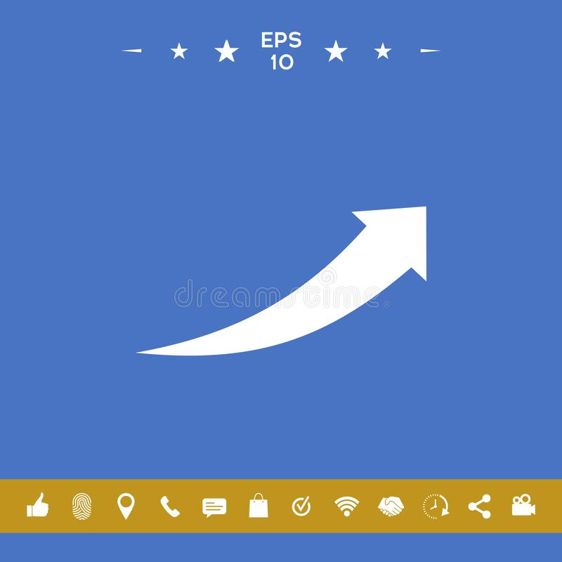 Pijlpictogram - omhoog stock illustratie