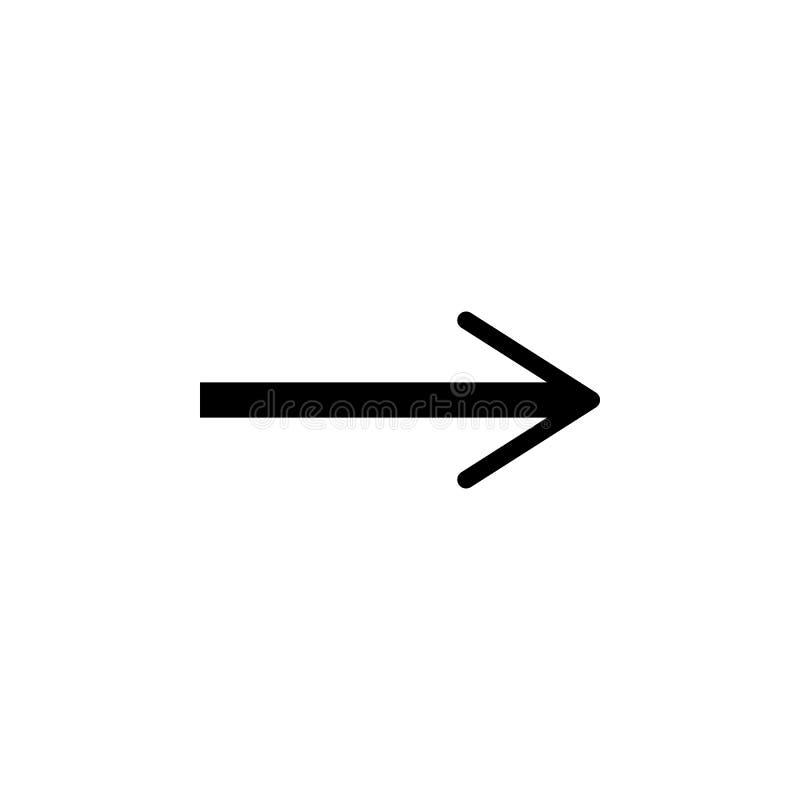 Pijlpictogram in in vlakke die stijl op grijze achtergrond wordt geïsoleerd Pijlsymbool voor uw websiteontwerp, embleem, app, UI royalty-vrije illustratie