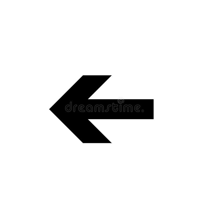 Pijlpictogram in in vlakke die stijl op grijze achtergrond wordt geïsoleerd Pijlsymbool voor uw websiteontwerp, embleem, app, UI vector illustratie