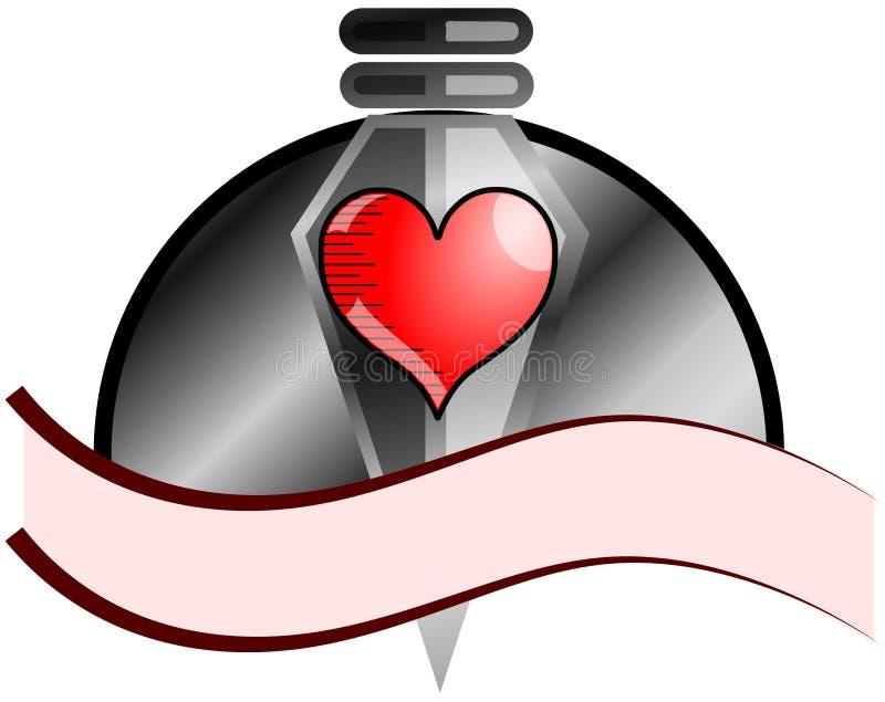 Pijlpunt met hart royalty-vrije illustratie
