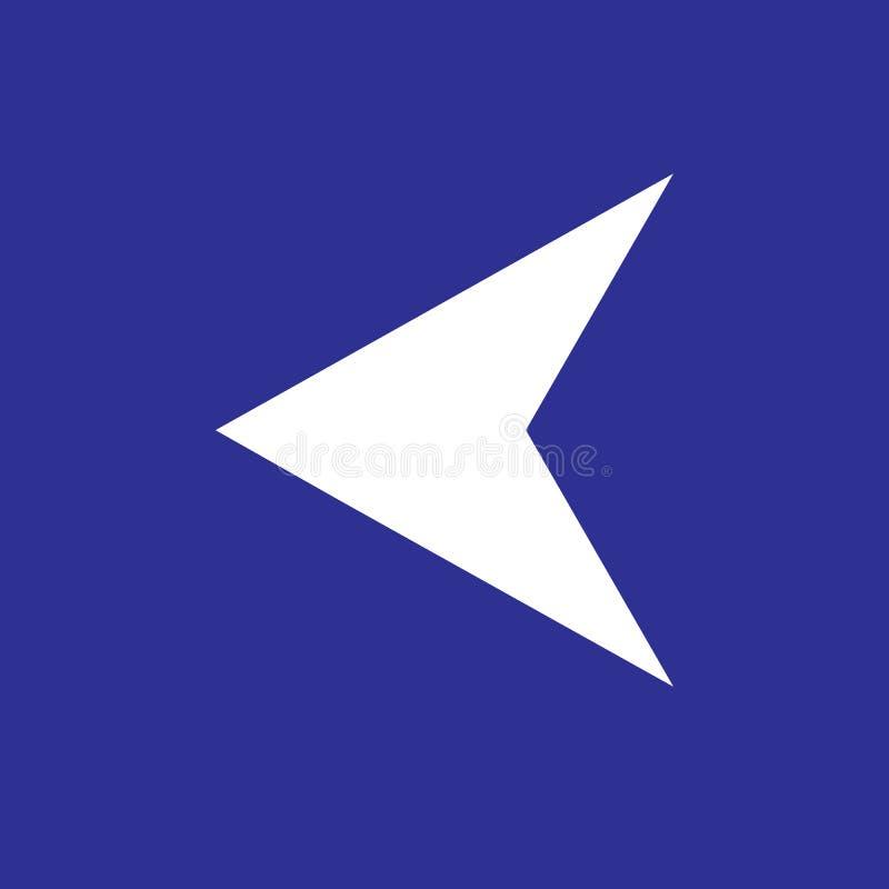 Pijlpunt Verlaten pictogram vector illustratie