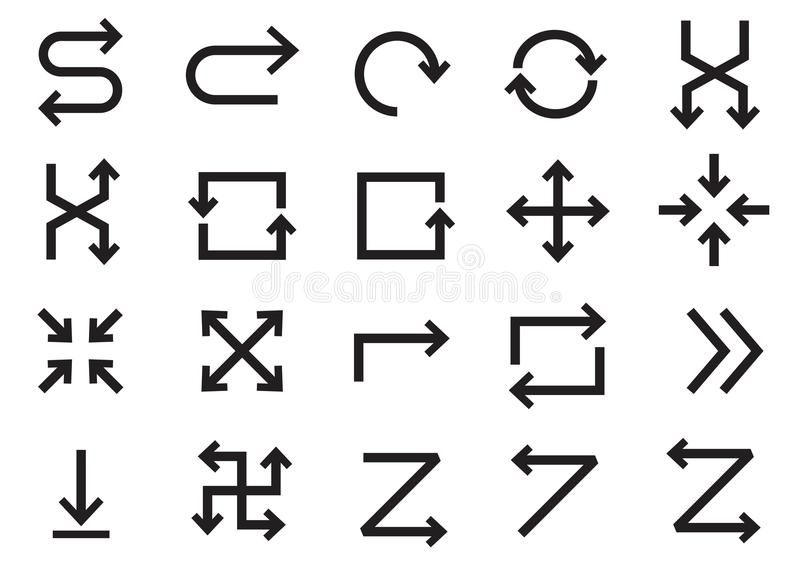 Pijlsymbool vector illustratie