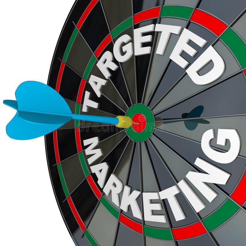 Pijltje en Dartboard Gerichte Marketing royalty-vrije illustratie