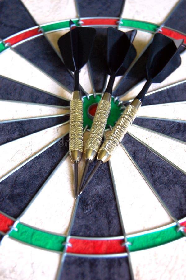 Pijltjes op een Dartboard royalty-vrije stock foto