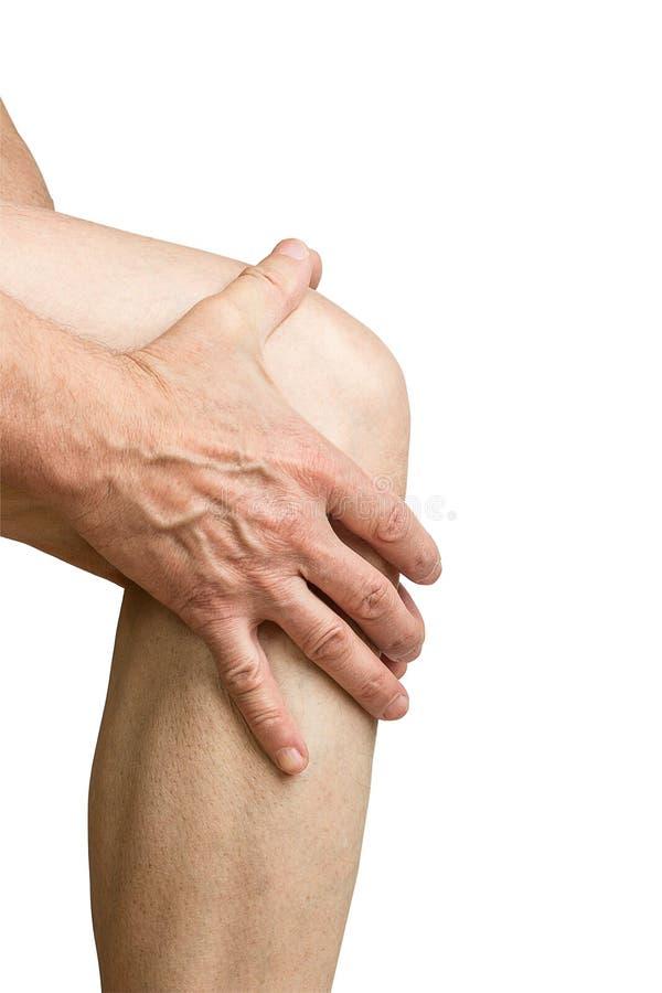 Pijn in de knie stock foto's