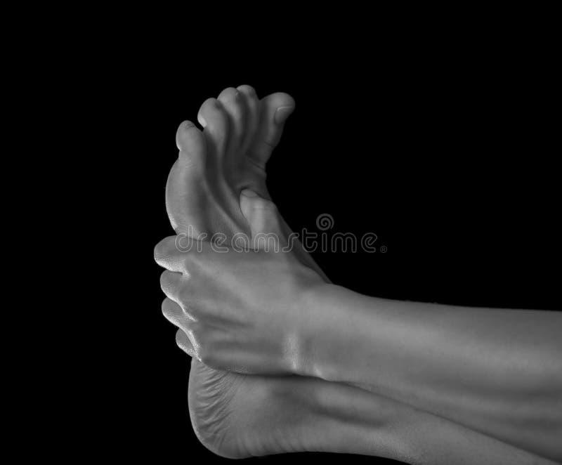 Pijn in de voet stock fotografie