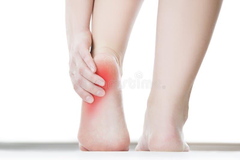 Pijn in de vrouwelijke voet royalty-vrije stock afbeelding
