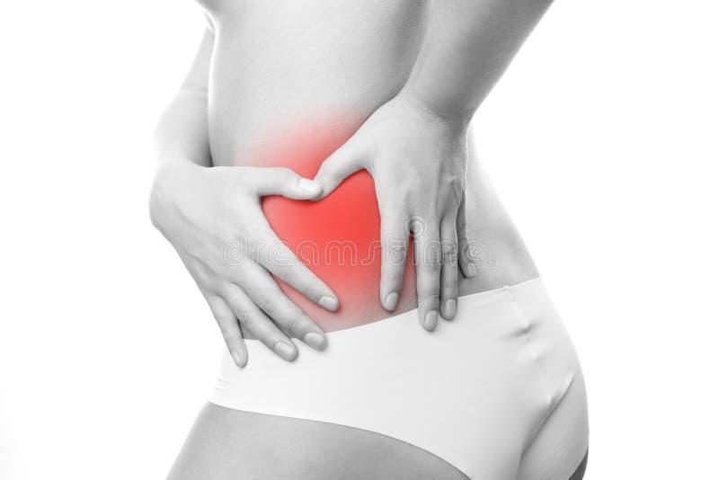 Pijn in linkerkant van lichaam. stock fotografie