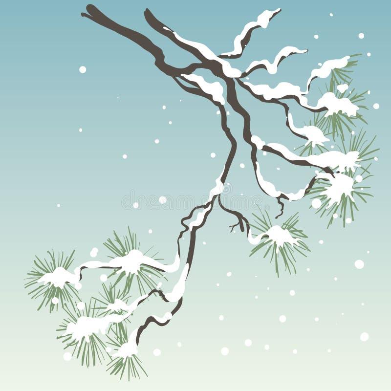 Pijnboom-boom stock illustratie