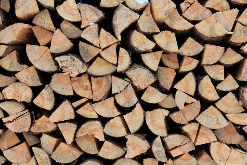 Pijnboomhout voor het aansteken van de oven royalty-vrije stock afbeelding