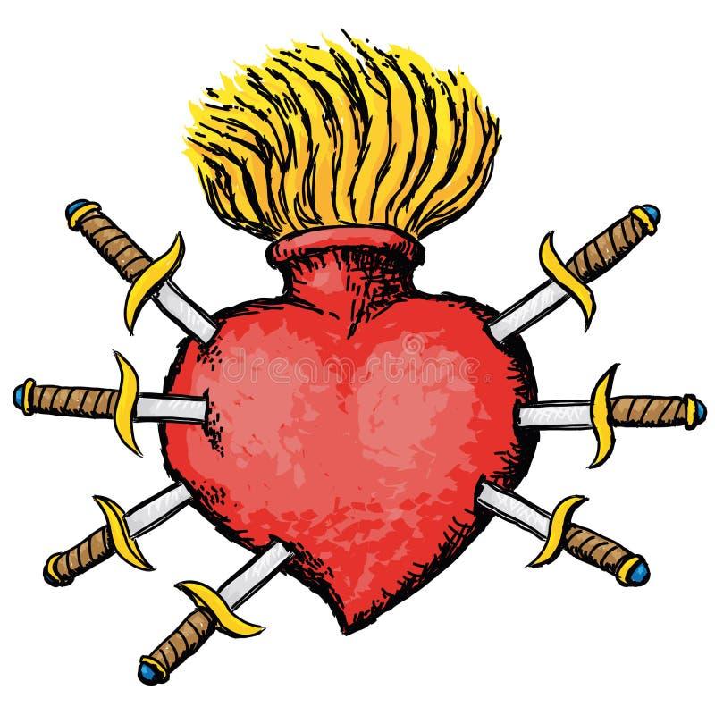 Pijnlijk hart royalty-vrije illustratie