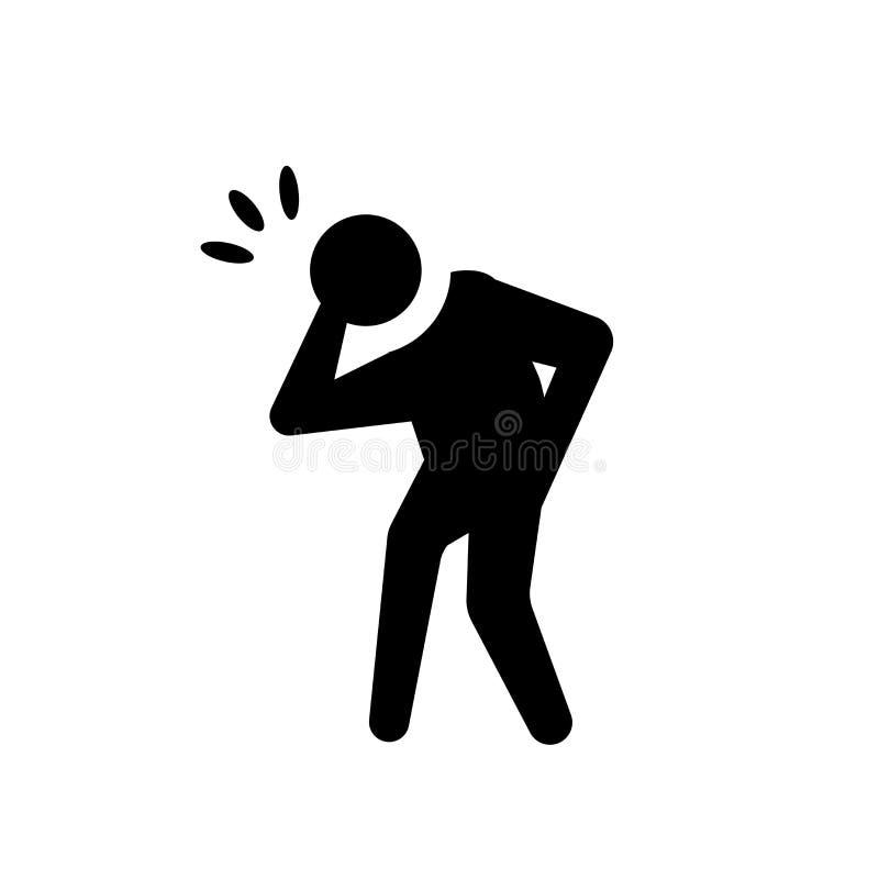 pijnlijk menselijk pictogram In pijnlijk menselijk embleemconcept op witte backgro vector illustratie