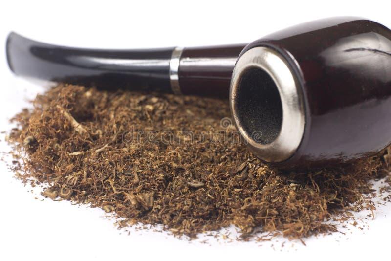 Pijp met tabak royalty-vrije stock fotografie