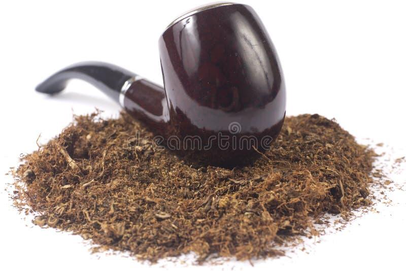 Pijp met tabak royalty-vrije stock afbeeldingen