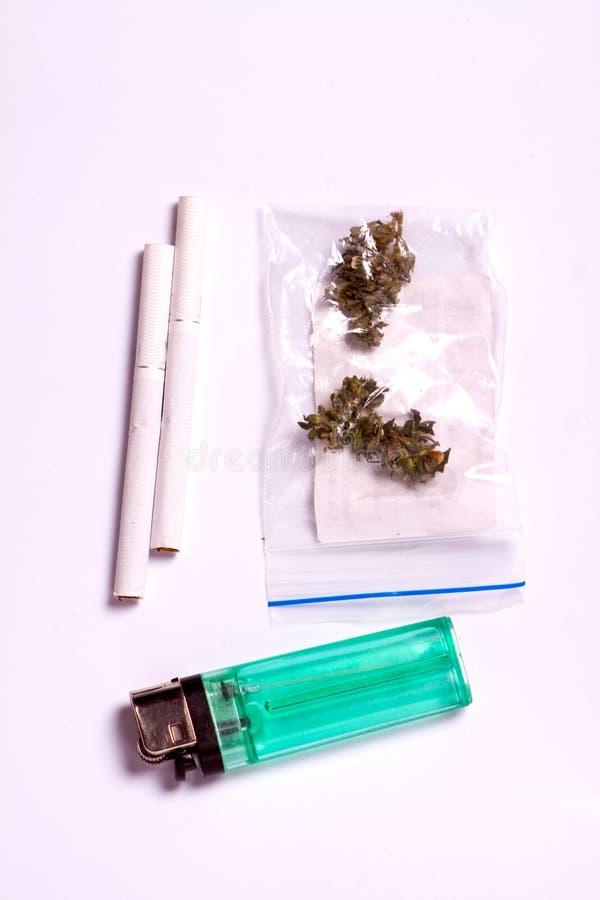 Pijp voor rokende medische marihuana royalty-vrije stock foto