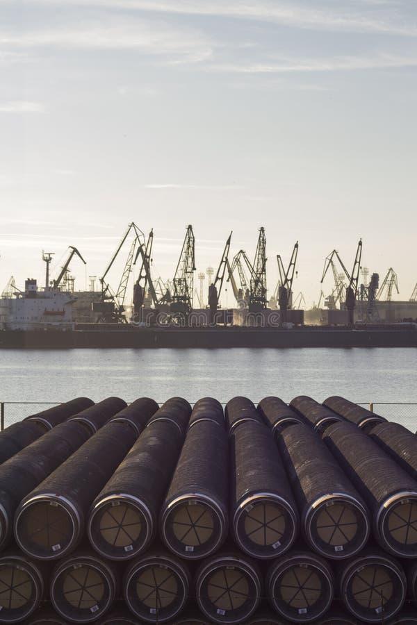 Pijpen voor olie of gas stock fotografie