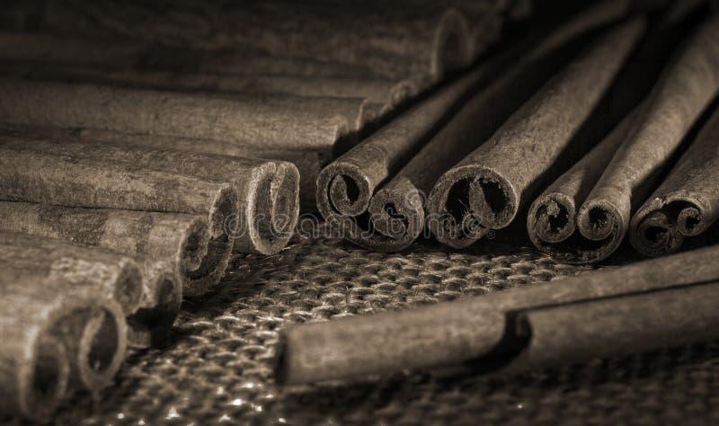 pijpjes kaneel oude stijl stock afbeeldingen