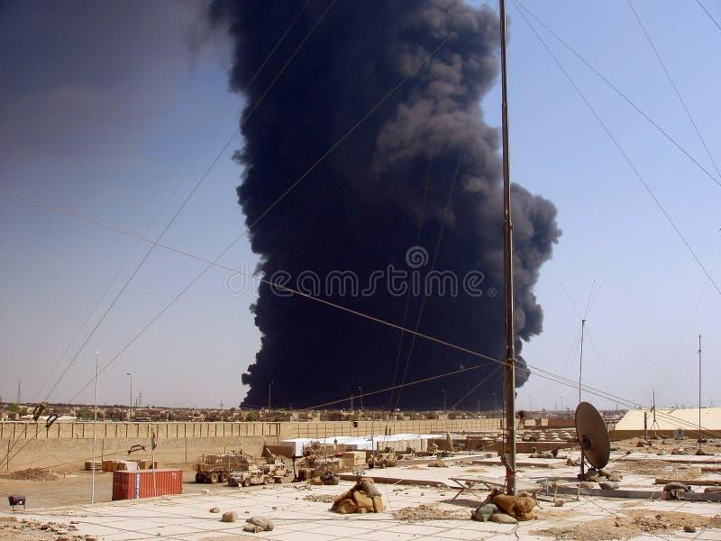 Pijpleiding attack2 Bagdad 07 stock foto