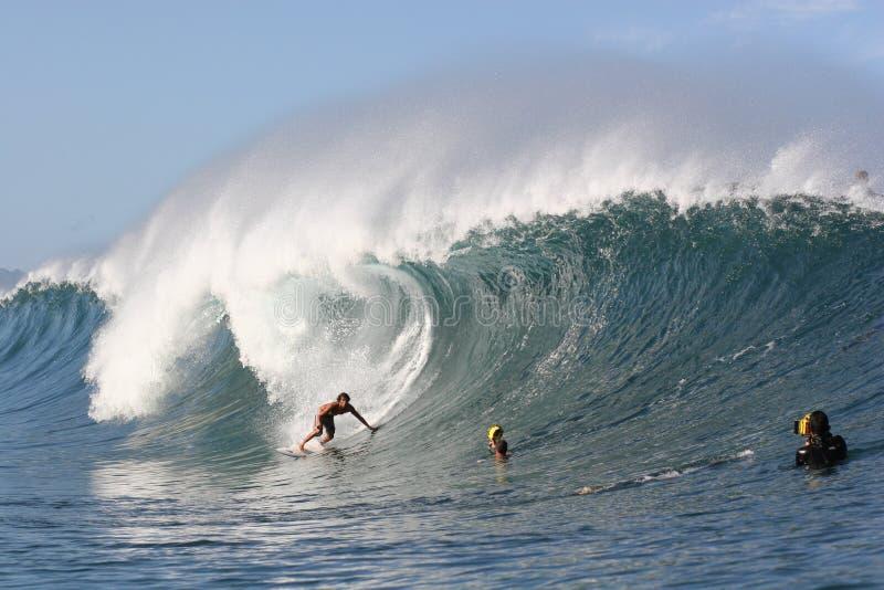 Pijpleiding surfer Randall Paulson stock fotografie