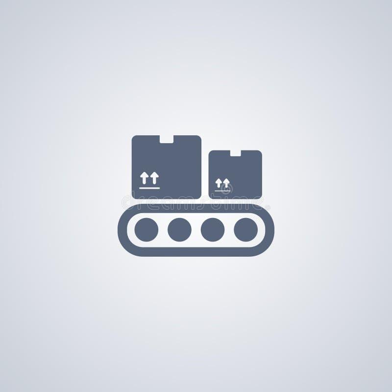 Pijpleiding, transportband, vector beste vlak pictogram royalty-vrije illustratie