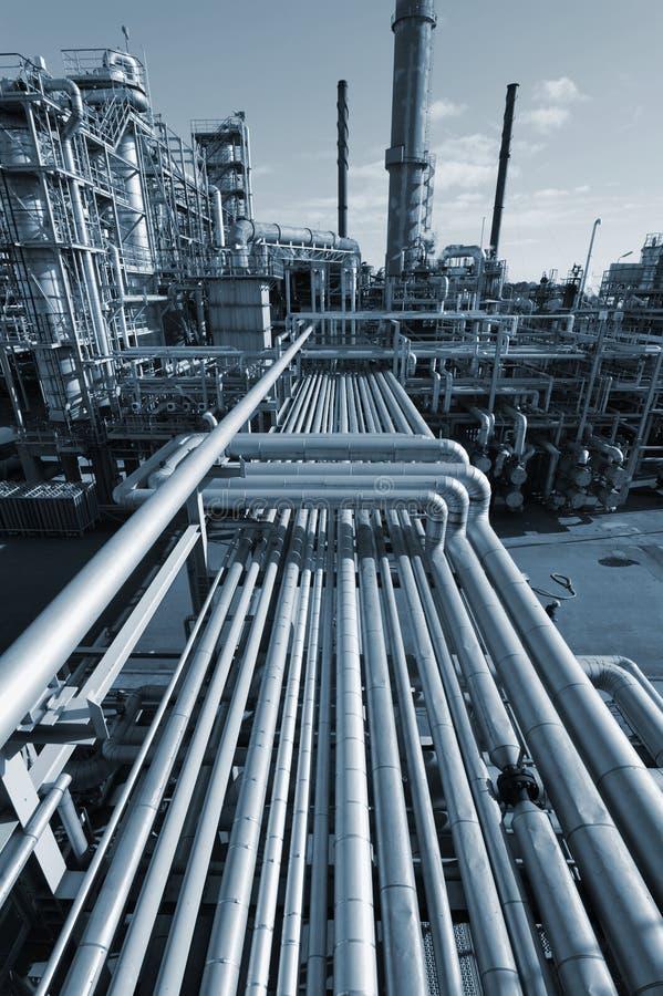 Pijpleidingen en de olieindustrieën royalty-vrije stock fotografie