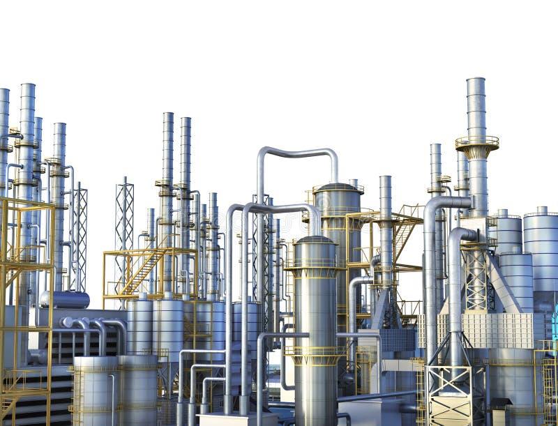 Pijpleidingen van een olie en gasraffinaderij bedrijf vector illustratie