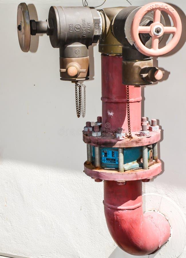 Pijpwaterleidingsbedrijven stock foto's