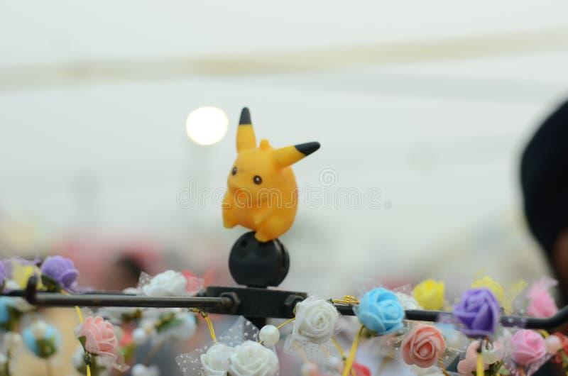 Pikachu pokemon går royaltyfria bilder