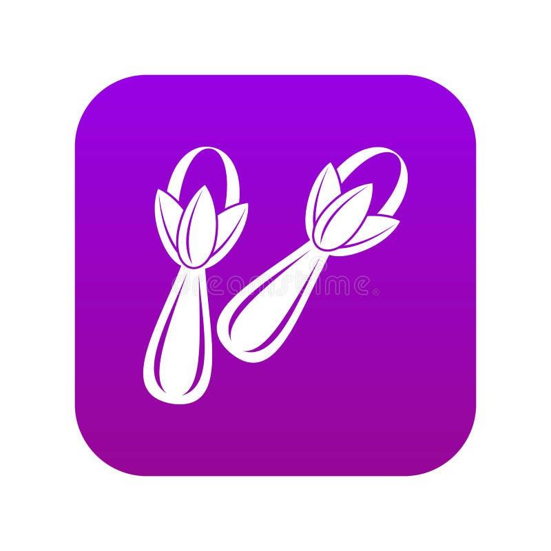 Pikantność cloves ikony cyfrowe purpury royalty ilustracja