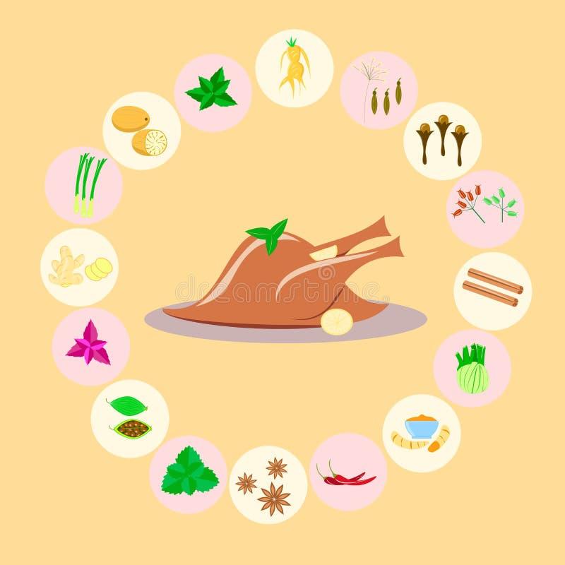 Pikantność dla mięsa, drób royalty ilustracja