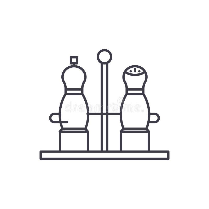 Pikantności ikony kreskowy pojęcie Pikantności wektorowa liniowa ilustracja, symbol, znak ilustracji