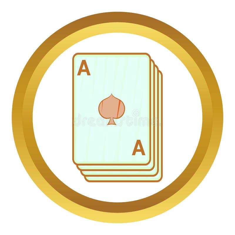 Pikass, Spielkarteikone vektor abbildung
