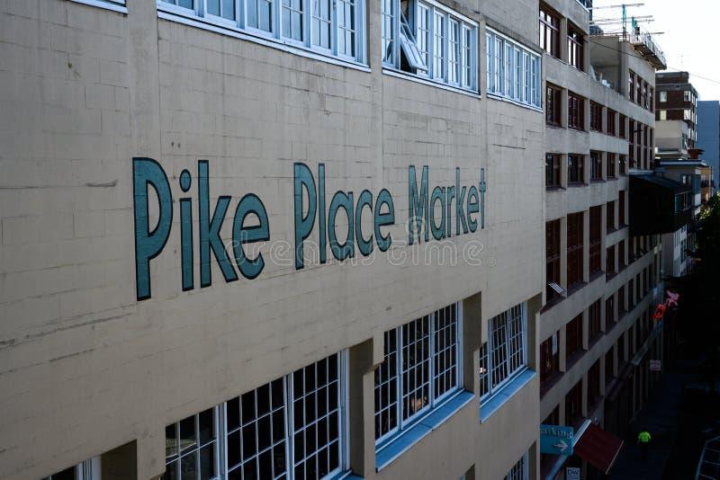Pike устанавливает рынок от западной стороны стоковая фотография rf