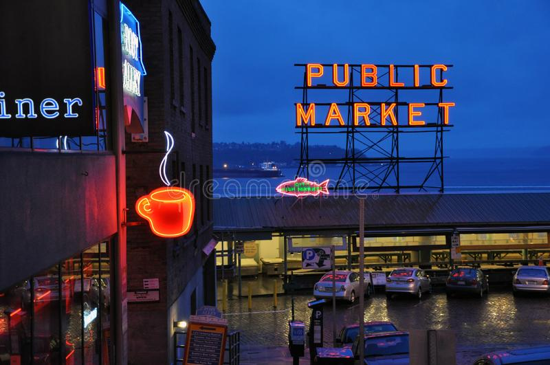 Pike Place Market royalty free stock image