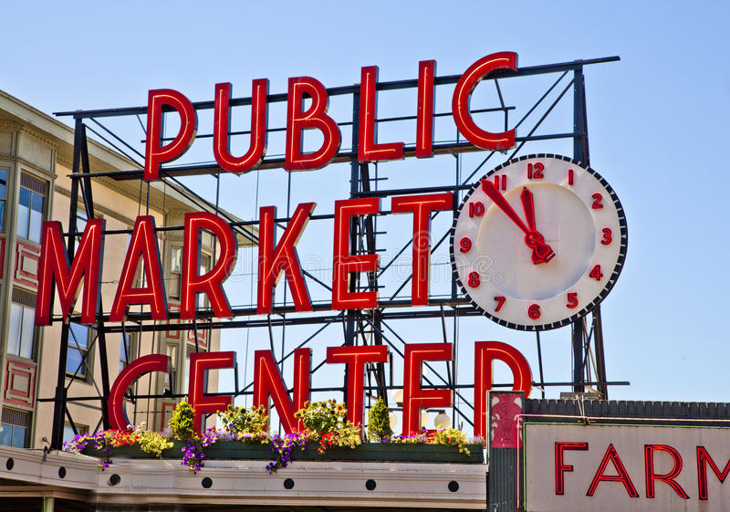 Download Pike Place Public Market-Sign Editorial Stock Photo - Image: 20785413