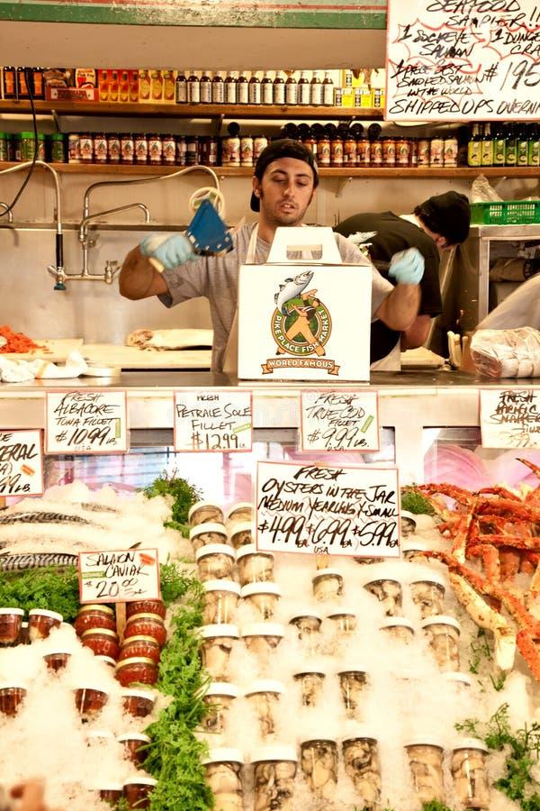 Pike-Platz-Fischmarkt stockbilder
