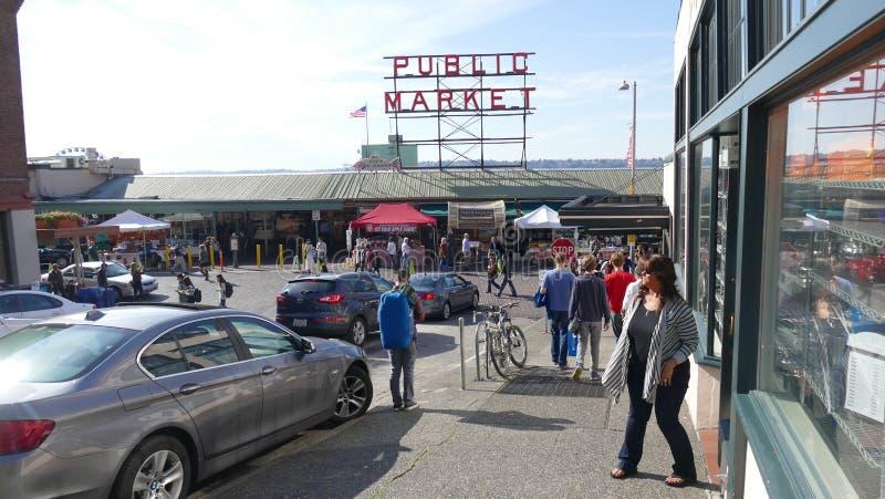 Pike-Platz-Markt, Seattle, Washington lizenzfreies stockfoto