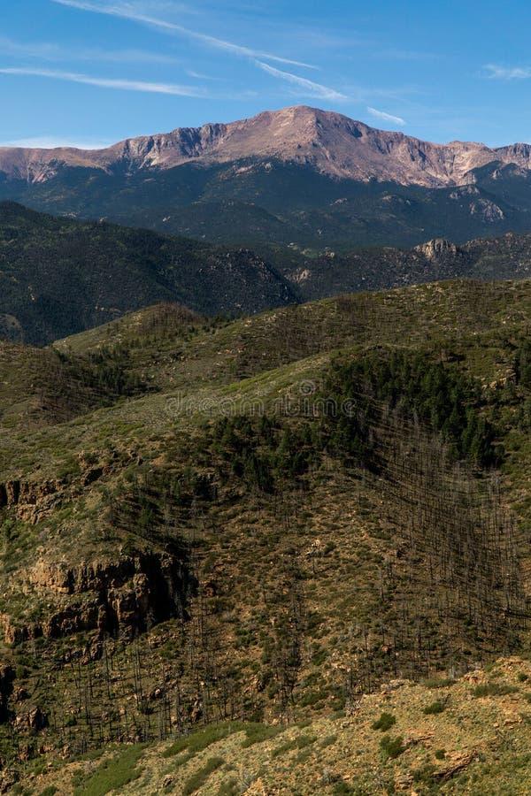 Pikes Peak-Berglandschaft Colorado Springs stockfotos