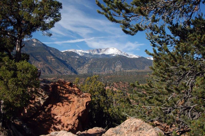 Pikes Peak Colorado royalty free stock image