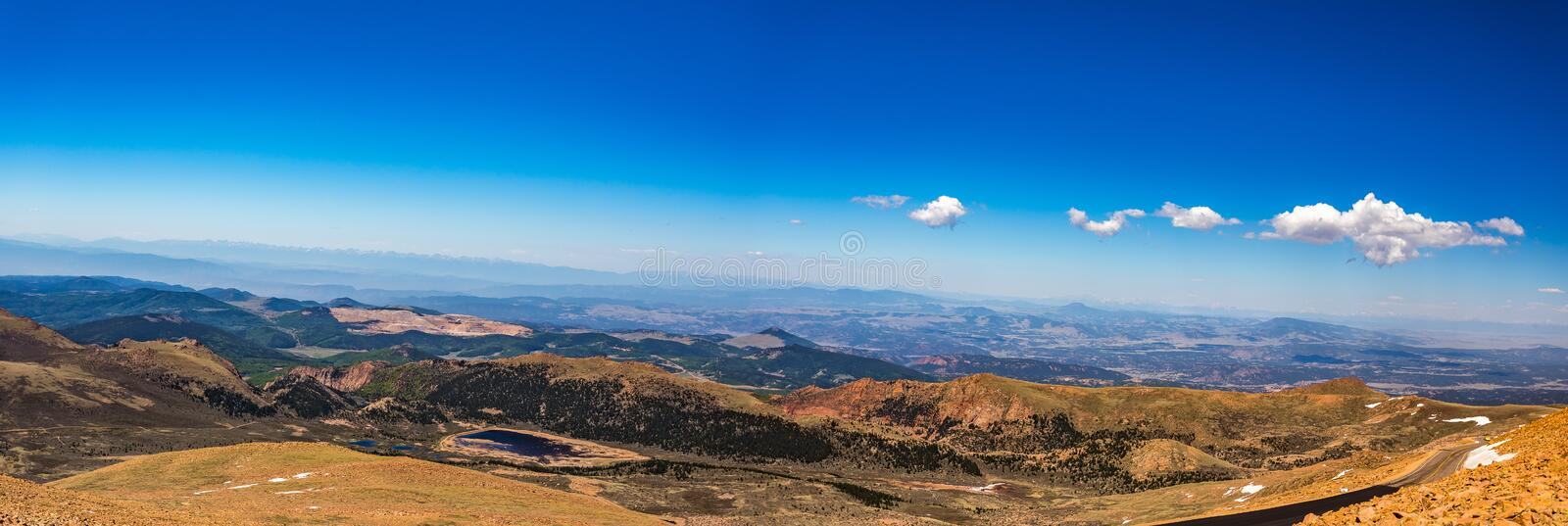 Pikes Peak Colorado. Pikes Peak is the highest summit of the southern Front Range of the Rocky Mountains. The ultra-prominent fourteener is located in Pike royalty free stock photos