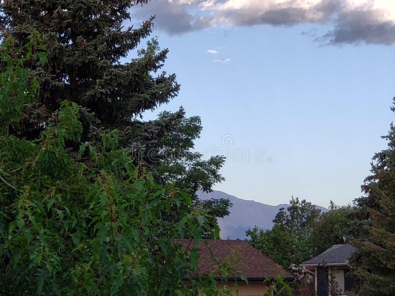 Pikes peak Colorado Rockies beautiful morning stock images