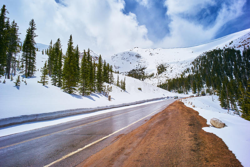 Pikes peak mountains stock images