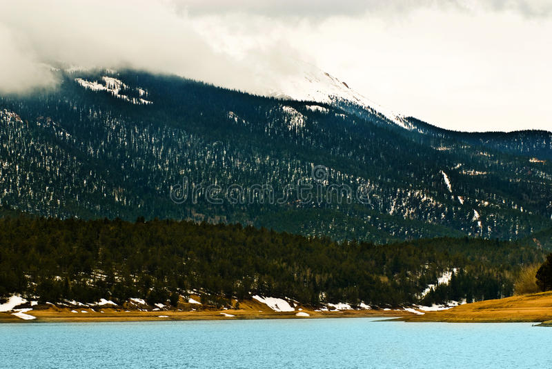 Pikes Peak Rocky Mountain Lake Royalty Free Stock Images