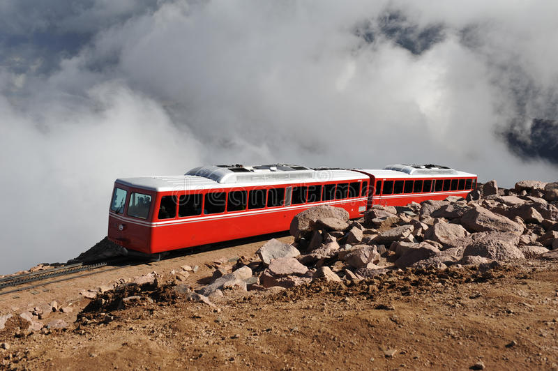 Pikes Peak Tram royalty free stock images