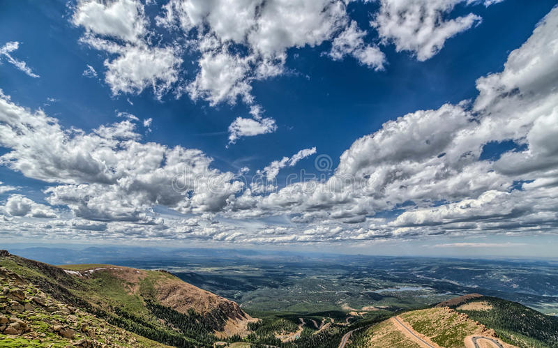 Pikes peak royalty free stock photography