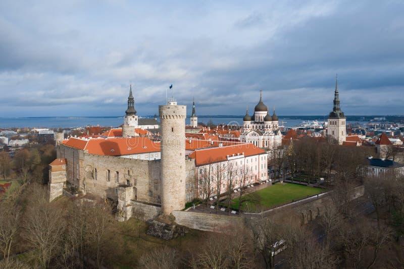 Pikk Hermann, Riigikogu the national assembly, Toompea, Tallinn, Estonia.  royalty free stock photos